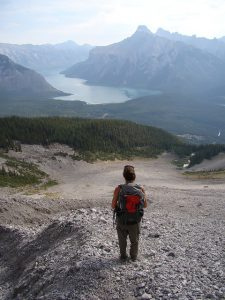 Image of hiker in Banff