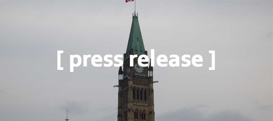 image of Parliament Hill with text reading [press release]