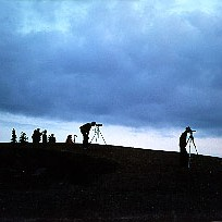 Picture of photographers on a hilltop