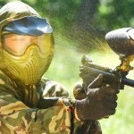 Picture of someone playing paintball
