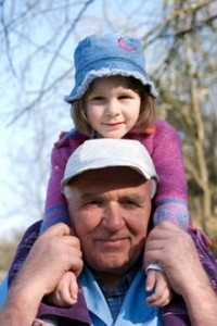 Image of a child on a man's shoulders
