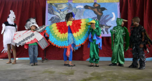 image of children in bird costumes
