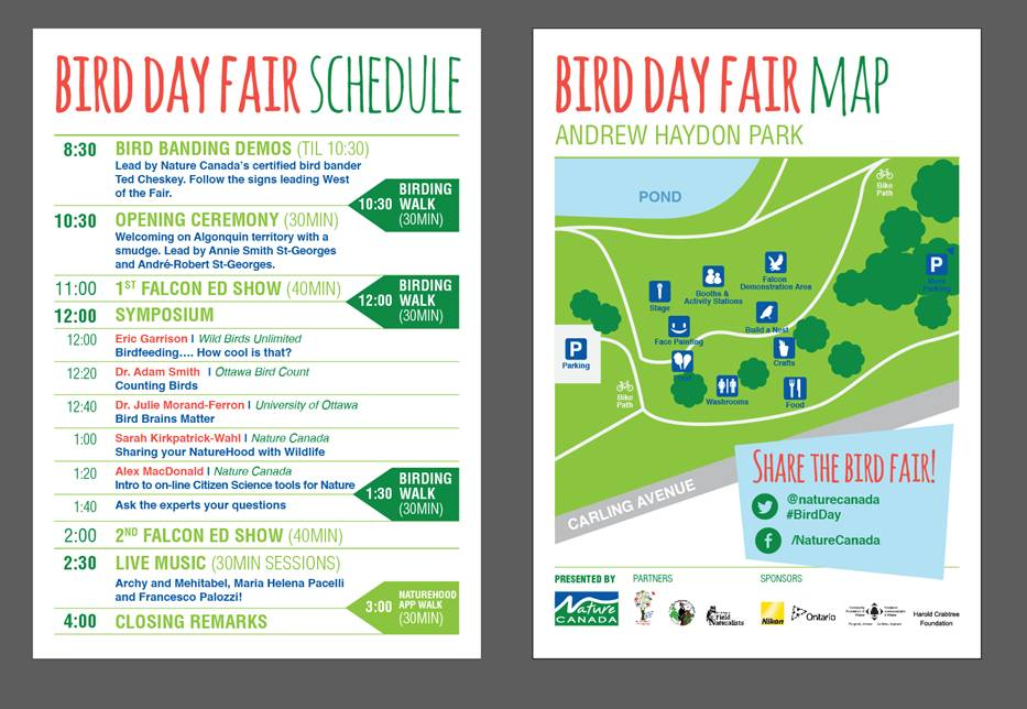 schedule of events for Bird Day Fair