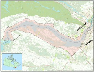 Lac Deschenes boundary map