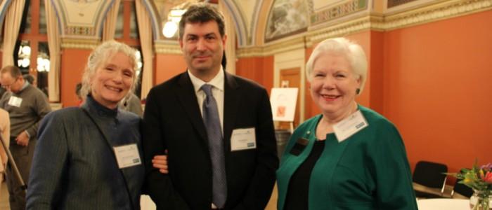 Susan Tanner, Ian Davidson and Liz Dowdeswell