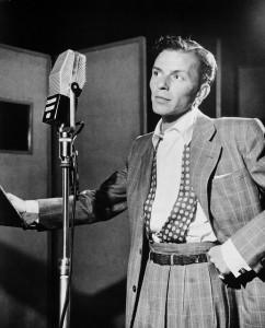 Frank Sinatra in recording studio