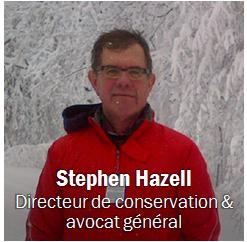 Stephen Hazell, Obtenir les coordonnées