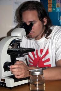 photo of microscope use