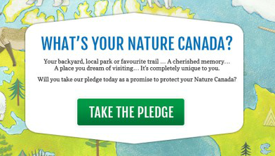 My Nature Canada Pledge
