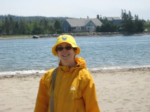 Cheryl Anderson on the beach