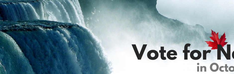 Waterfall Vote for Nature Banner