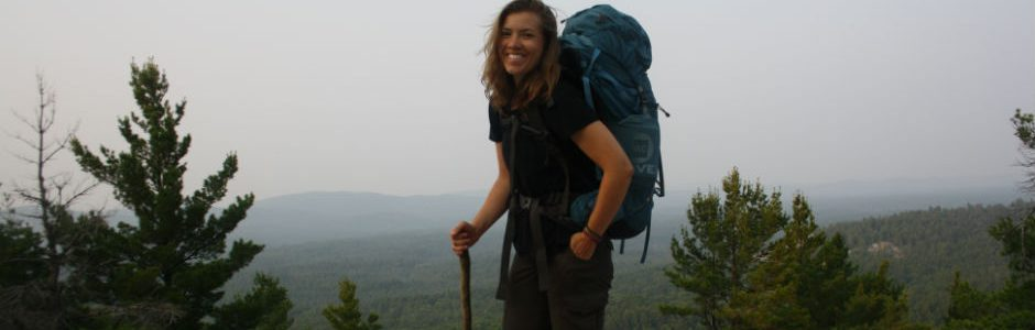 image of a girl hiking
