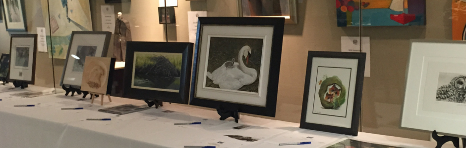 Image of the Art for Nature Auction table