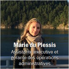 Marie du Plessis, Obtenir les coordonnées