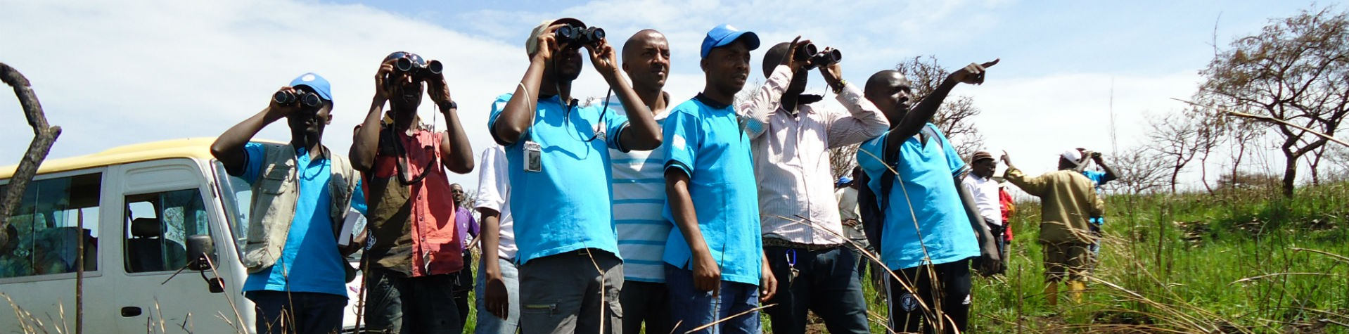 ABN members birding in Ruvubu National Park Burundi