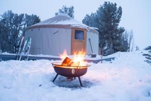 Winter Yurt