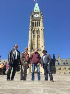 From left to right: Stephen Hazell, Rick Ashton, Trevor Herriot, and Gord Vaadeland.