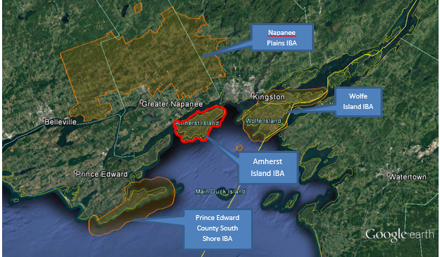 Image of map of Amherst Island