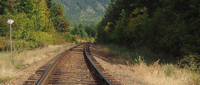 Image of rail road tracks