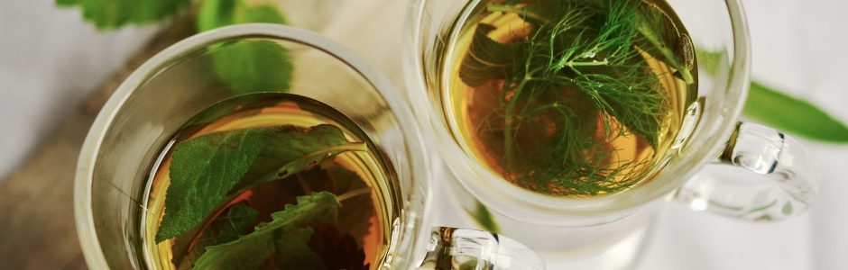 Image of two cups of herbal tea