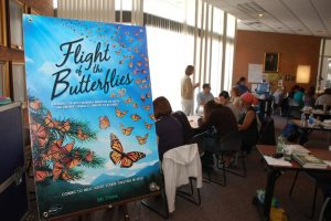 Flight of the Butterflies at a monarch educational seminar
