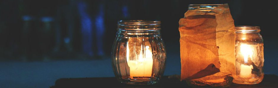 Image of candles at night