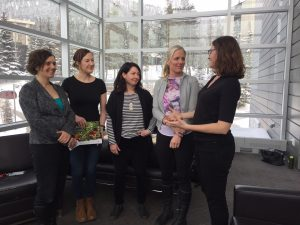 Image of leanor Fast, Chole Dragon-Smith, Dawn Carr, Minister McKenna, and Jill Sturdy