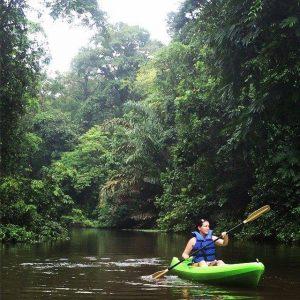 Jennifer Haddow, on a kayaking trip.