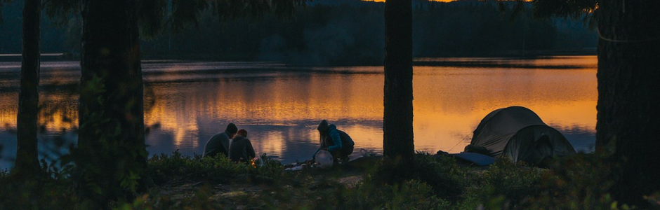 camping nighttime